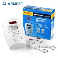 Smarsecu 2     telecommande sans fil PIR  systeme dalarme de capteur infrarouge  detecteur de mouvement  sirene dalarme de securite a domicile