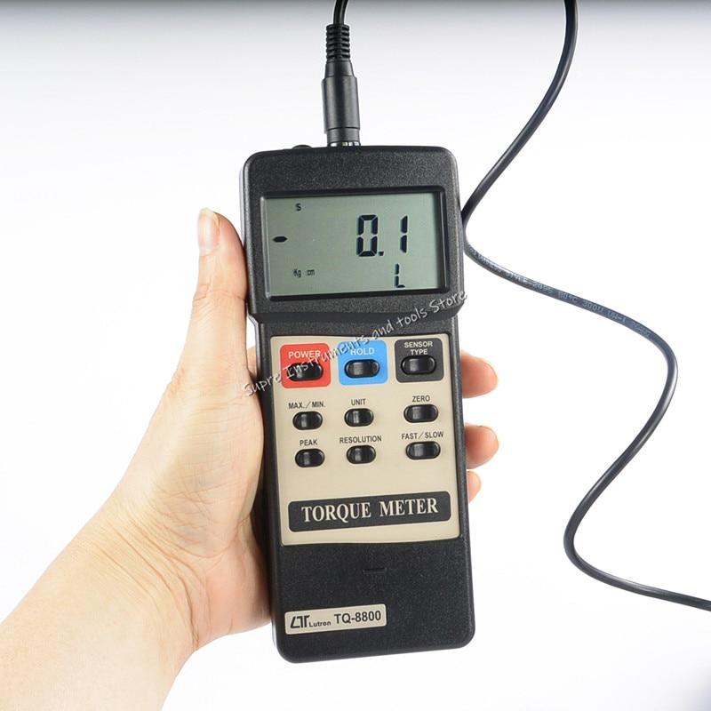 Probador de torsión Taiwan LUTRON TQ-8800 medidor de torsión Digital TQ8800 probador de torsión 15Kg-cm,12.99LB-inch, 147,1-Newton-cm