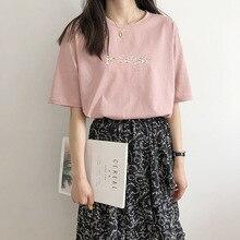 2020 High Quality Women Summer T Shirts O-Neck Women Half Sleeve Cotton T Shirt Harajuku Casual Tops For Women Summer Tees