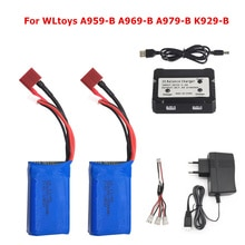 High Quality 7.4V 2500mAh 2S Lipo Battery For WLtoys A959-B A969-B A979-B K929B RC Desert Truck Car