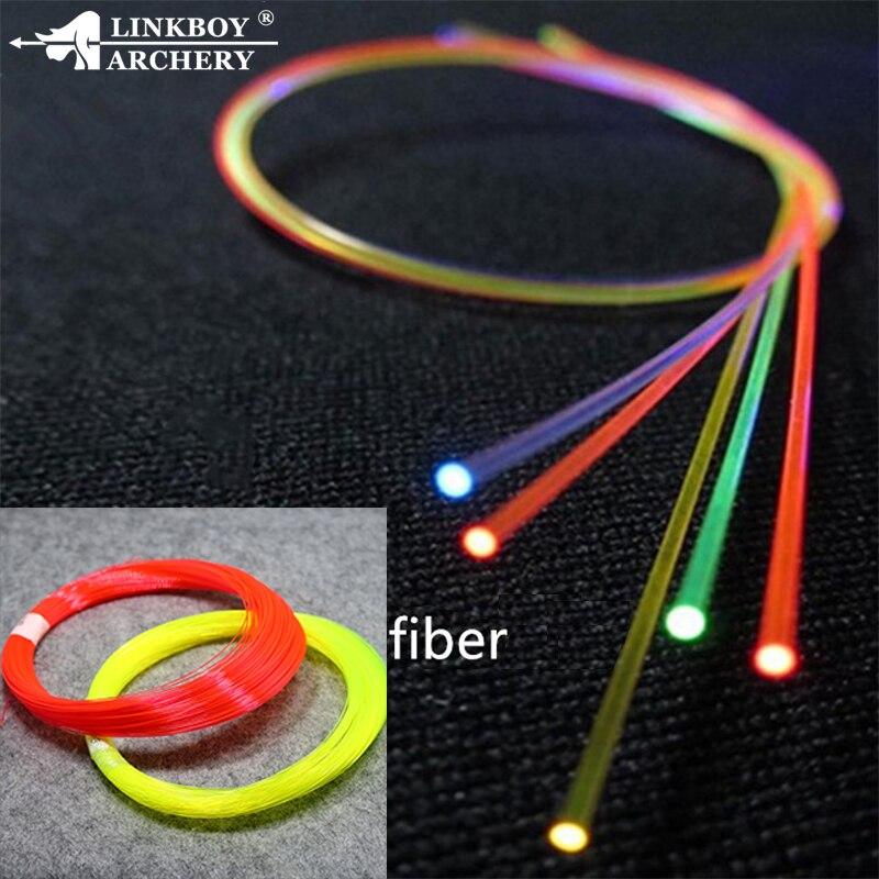 "Linkboy, arco de fibra óptica de tiro con arco, Pin de la vista, diámetros de 0.019 ""0.029"", amarillo, verde, rojo, naranja, accesorios de arco 2M"