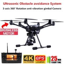 Typhon H-480 GPS Drone 4K HD caméra hélicoptère RTF 3 axes 360 ° Rotation cardan ultrasons évitement dobstacles Drone professionnel
