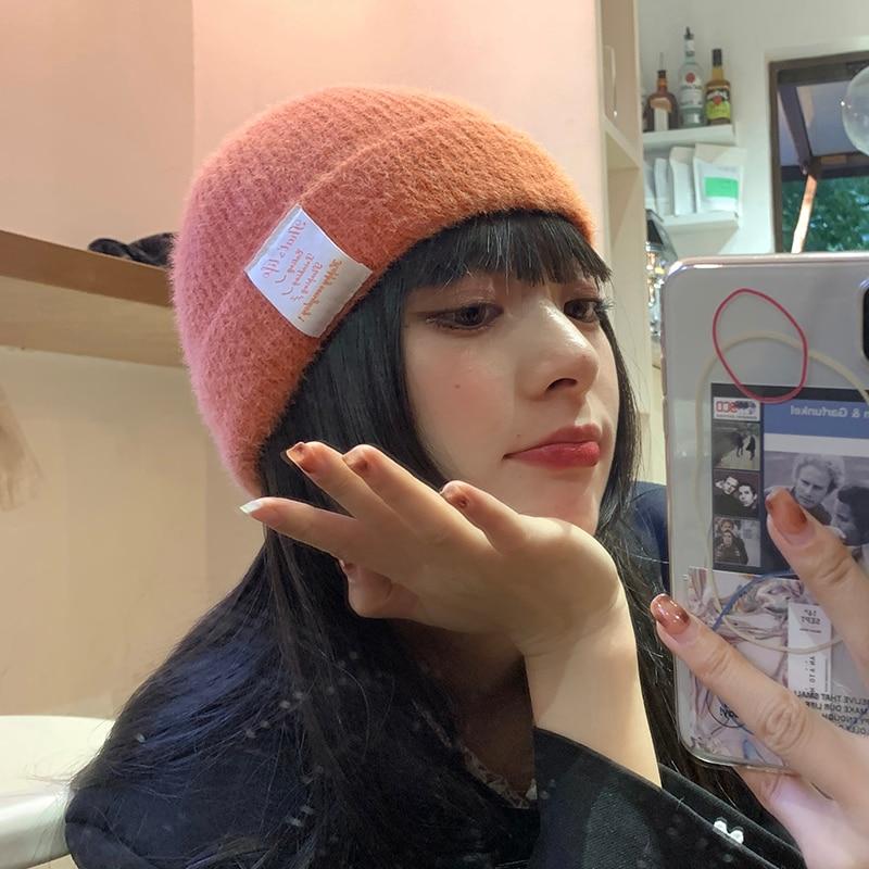 Woolen Fashionable Autumn and Winter Labeling Big Cap Women's Korean Ins Internet Celebrity Earflaps
