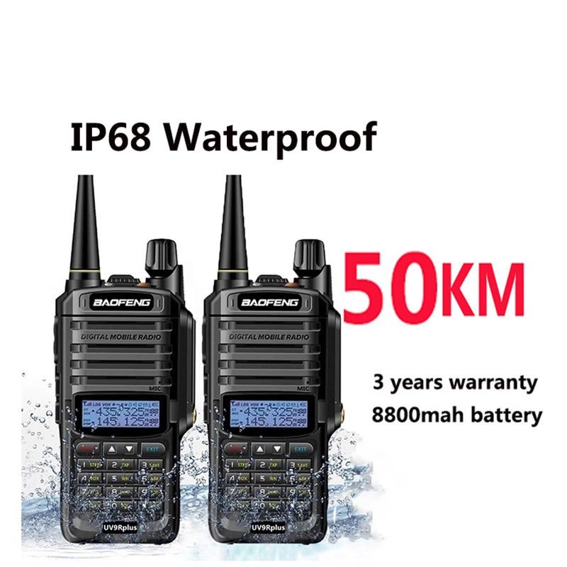 Baofeng uv9r زائد لاسلكي للصيد 50 كجم 40 كجم 100 كجم راديو السيارة comunicador هام hf الماسح الضوئي راديو vhf uhf الشرطة البحرية sdr
