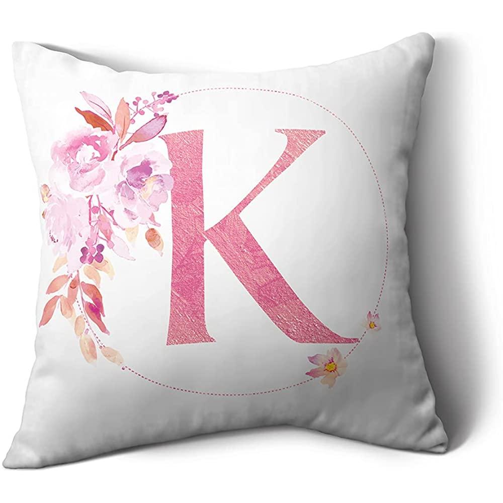 HHLOU декоративная наволочка с английскими буквами и цветочным рисунком, белые защитные наволочки для дивана, кушетки, спальни
