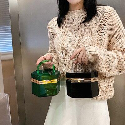 حقيبة يد نسائية من الأكريليك الشفاف ، حقيبة كلاتش مسائية ، حقيبة يد فاخرة ، مرصعة بالكريستال ، عصرية ، مجموعة جديدة