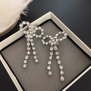 Bow Tassel Earrings with exaggerated Earrings