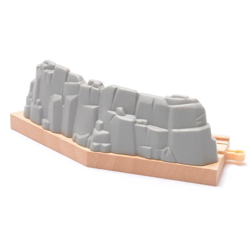 X069, pista curva corta de grava, Escena de juego de ajuste ferroviario, tren eléctrico y de madera Brio, juguetes para niños en desarrollo