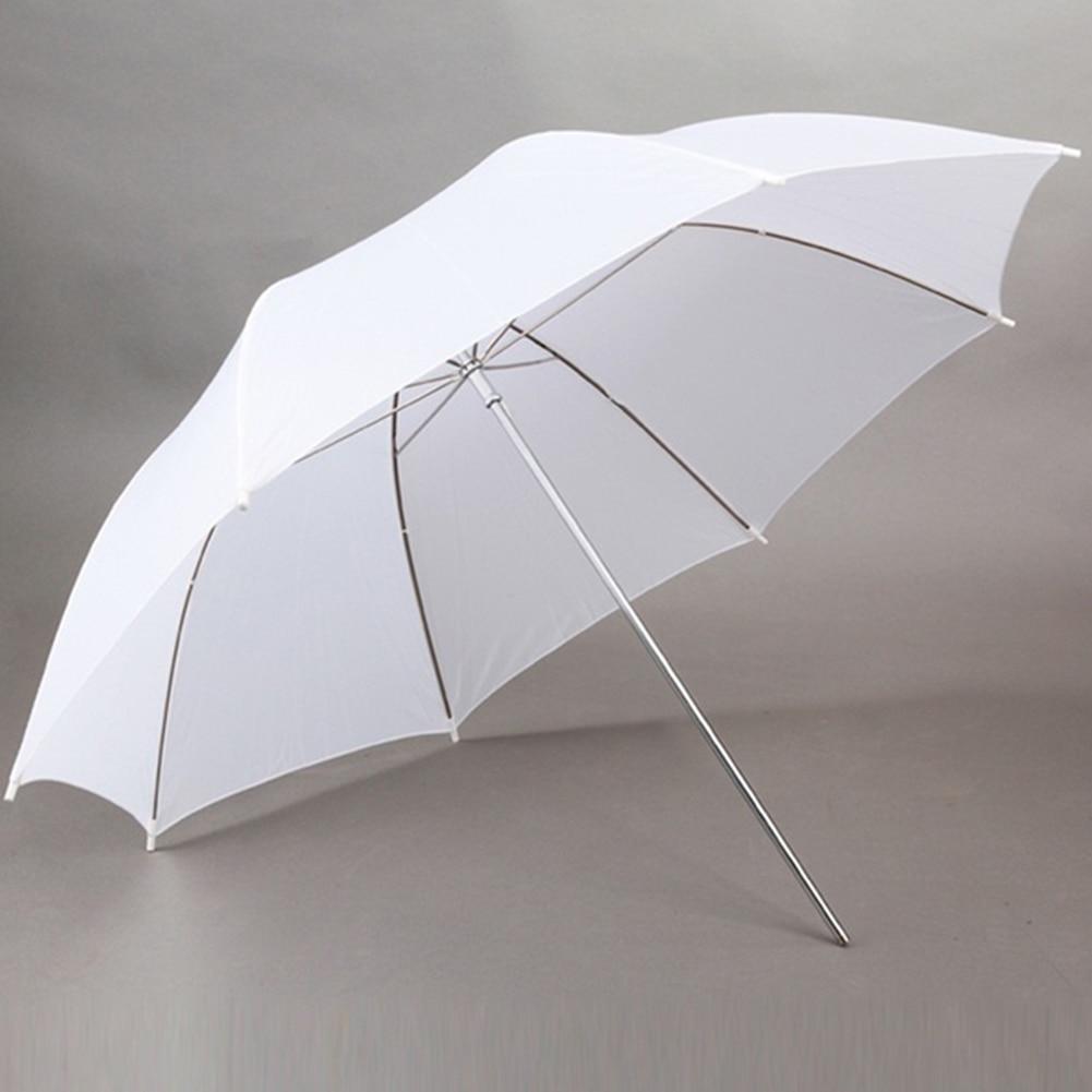 Paraguas de foto de estudio de luz suave blanco portátil paraguas de fotografía suave 33 pulgadas fotografía translúcida