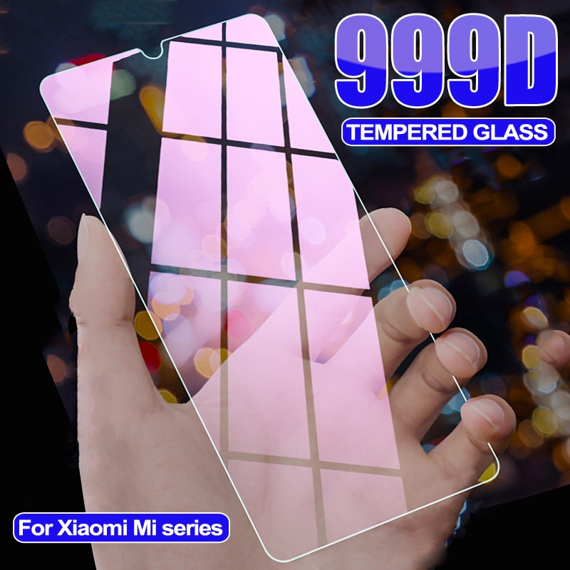 999D Tempered Protective Glass For Xiaomi Mi 9 10 Lite 10i 9T 10T Pro Screen Protector Glass On Mi 8