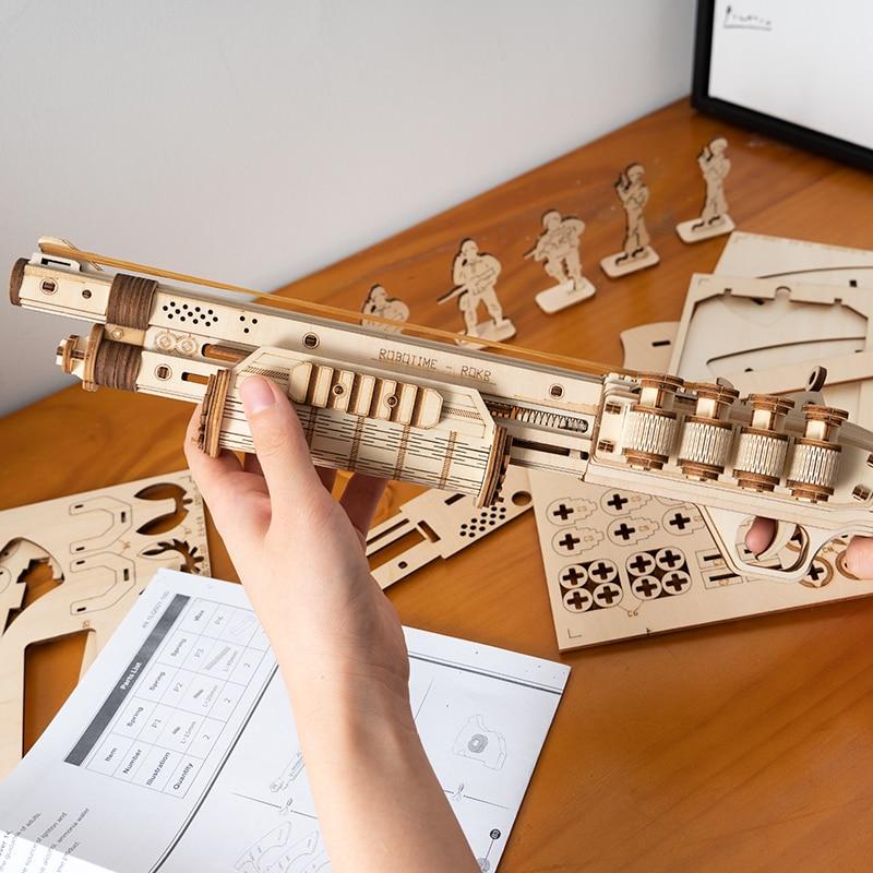 Robotime Gun Blocks Model Buliding Kit Toys Gift For Children Kids Boys Birthday Gift