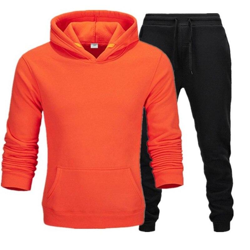 Мужская спортивная толстовка из 2 предметов, спортивные штаны, пуловер, спортивная одежда, спортивная одежда, повседневная спортивная одежд...