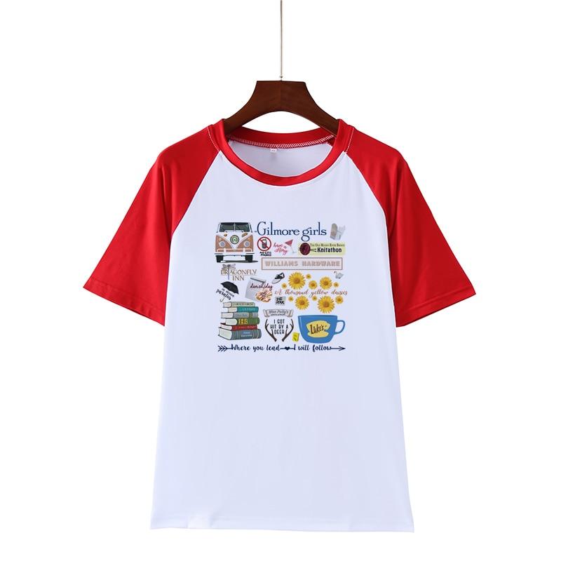 Gilmore Girls Where You Lead I Will Follow, camiseta blanca estampada, tapas de moda Harajuku, camiseta femenina, camiseta de verano, lo más nuevo