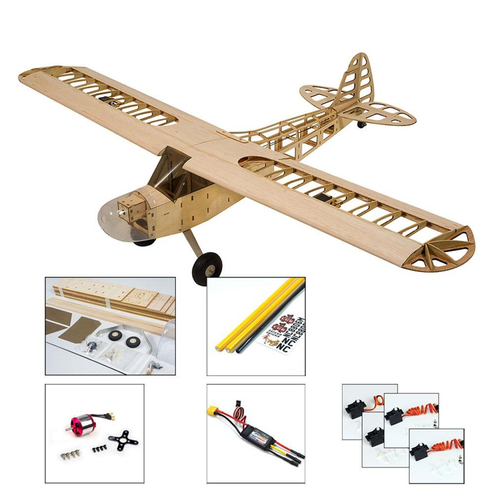 RC طائرة طوافة خشبية J3 نموذج طائرة طائرة 1.2 متر الجناح Aeromodelismo الخشب نموذج طائرة بناء أطقم