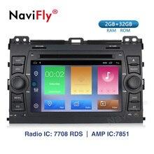 Navifly 7 인치 9.1 차량용 라디오 멀티미디어 플레이어 2 din gps 네비게이션 2g + 32g android for toyota prado 120 2004-2009 dvd wifi am