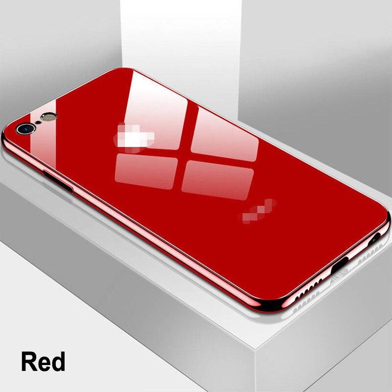 Роскошный чехол из закаленного стекла для телефона iPhone 11 Pro XS Max XR X 8 7 6 s 6 s Plus 10 черный золотой красный белый чехол Carcasa Coque Funda