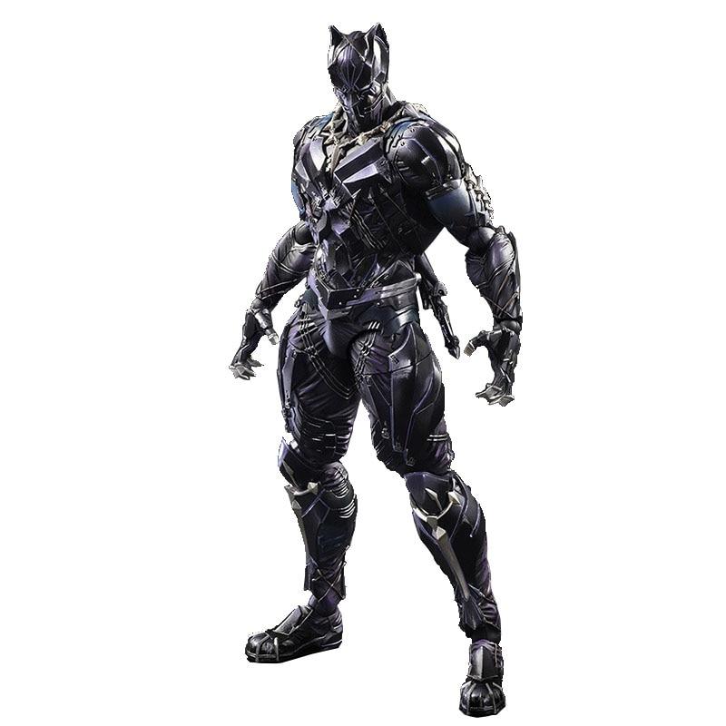 26cm Disney Marvel Anime Figure PA Change Black Panther 1/6 Articulated Model Decoration Figure Gift For Boyfriend