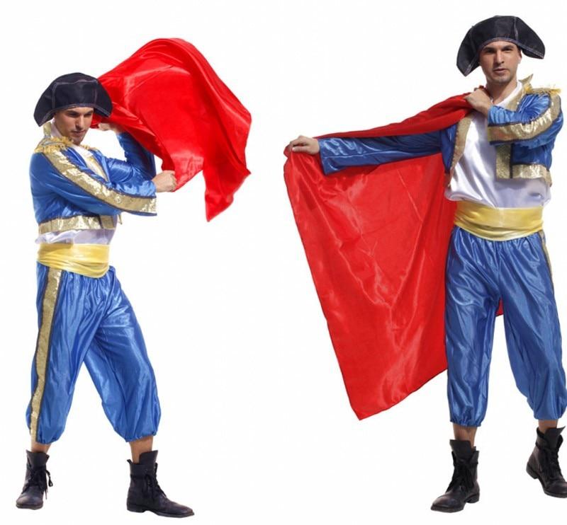 Disfraz Matador para hombres, camisa, pantalones, capa, sombrero, disfraz de Halloween para adultos, chicos, fiesta de disfraces, Vestido de juego de rol, atuendo, ropa