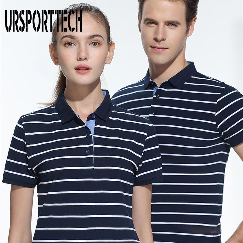Мужские рубашки поло, большие размеры, хлопок, летние спортивные полосатые повседневные женские рубашки-поло с коротким рукавом, облегающи...