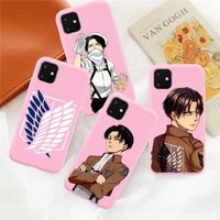 hot anime japanese attack on titan phone case for iphone 12 11 pro xs max mini xr 6 s 6s 7 8 plus candy funda silicone cover