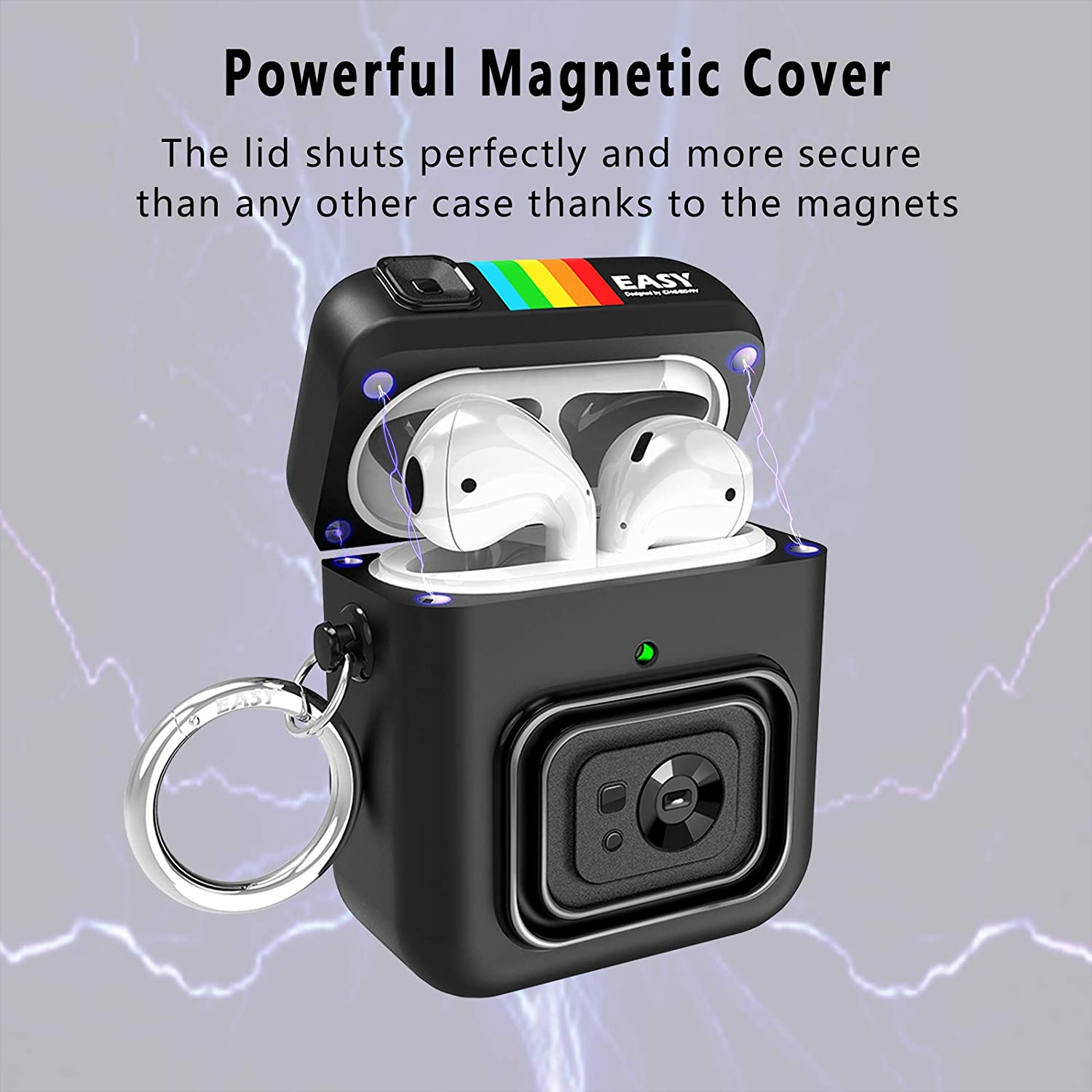 Magnetic Cover for Airpods Pro Case Cute Cartoon Camera Design with Keychain Silicone Rugged ArmorFull-Body for AirPods 1 2 Case enlarge