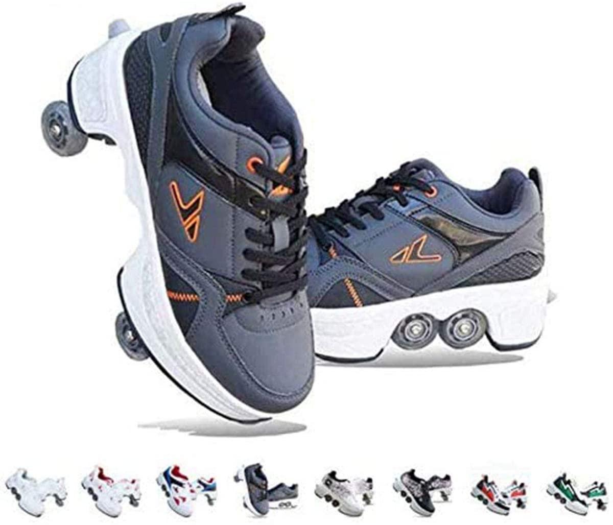 Deformation Shoes Adult Heely Walking Shoes Children's Students Roller Skates Blasting Shoes Skateboard Shoes Skating Size 31-43