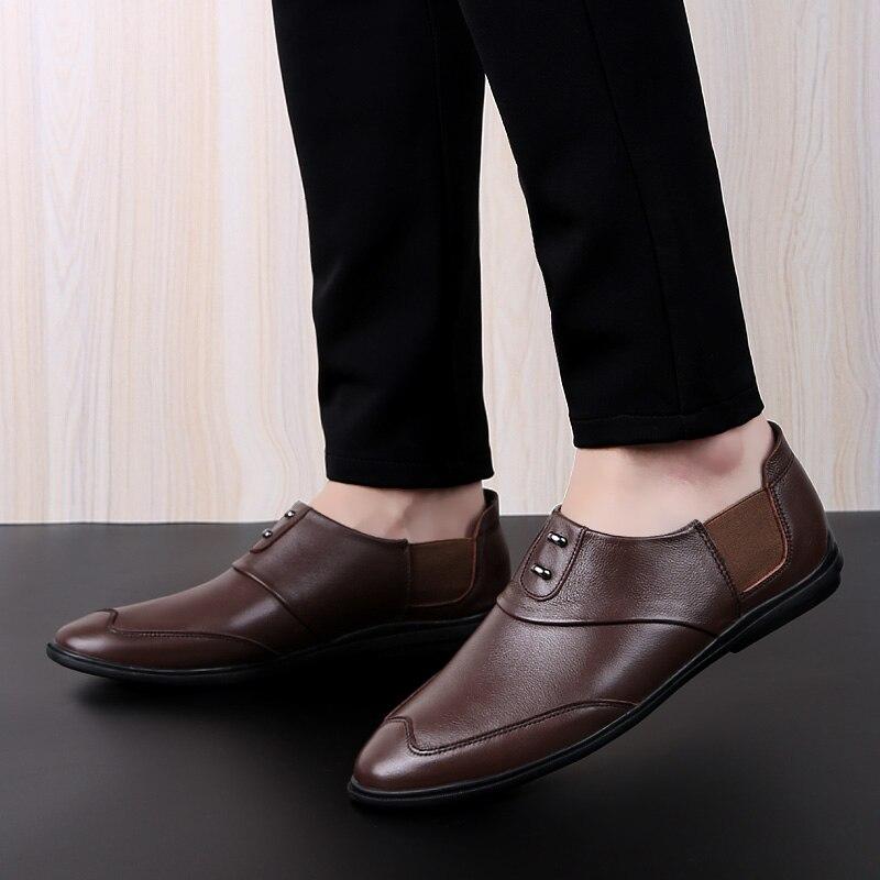 Mode printemps chaussures chaussures plates mocassins Slip-on troupeau chaussures décontractées hommes chaussures de marche chaussures bateau léger homme confort chaussures * AS1911