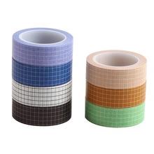 Ruban adhésif Washi avec grille à balles Journal 10M, noir blanc, ruban adhésif Washi pour Scrapbooking, ruban de masquage japonais pour bricolage