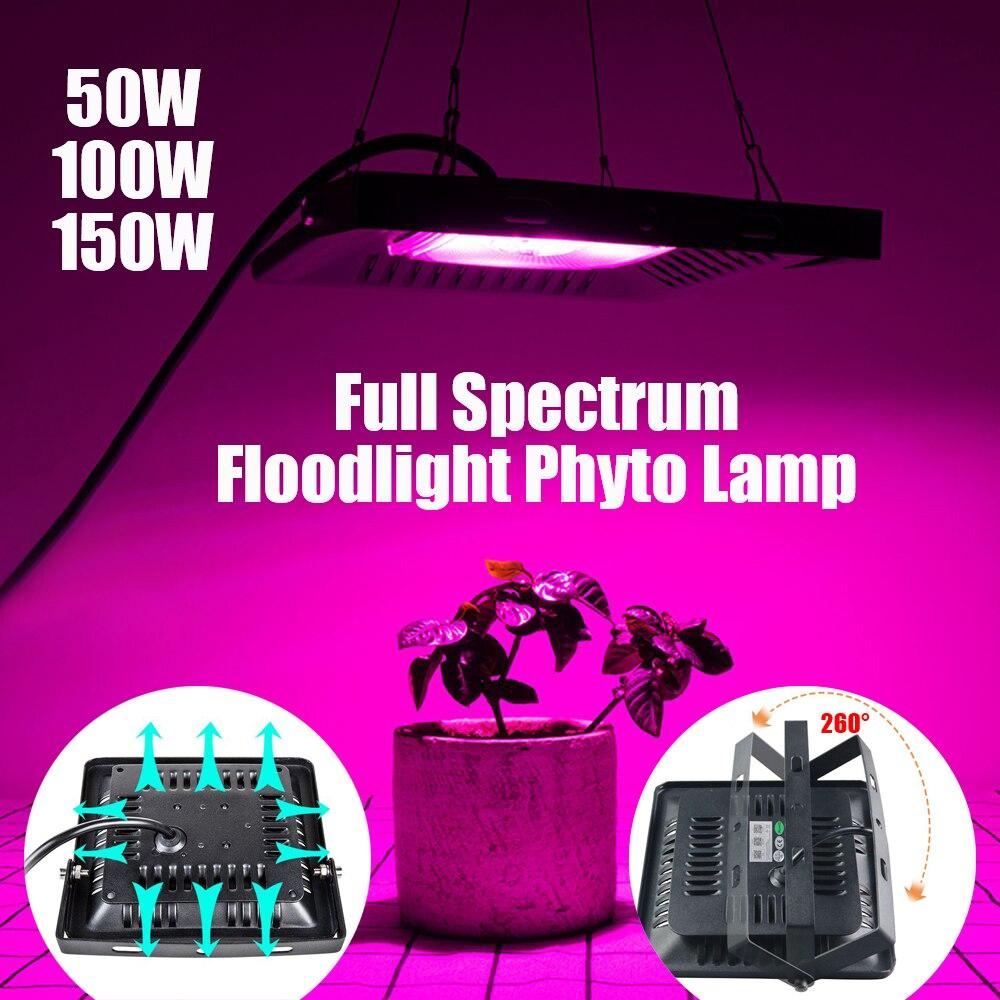 LED Grow Light 50w 100w 150w Phytolamp Full Spectrum Floodlight Phyto Lamp Greenhouse Hydroponic Plant Light Growth Lighting