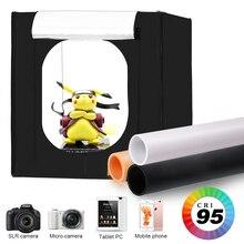 Cajas suaves para estudio fotográfico, 80x80CM, Kit plegable portátil para tienda de campaña de fotografía con 3 uds de tablero de fondo