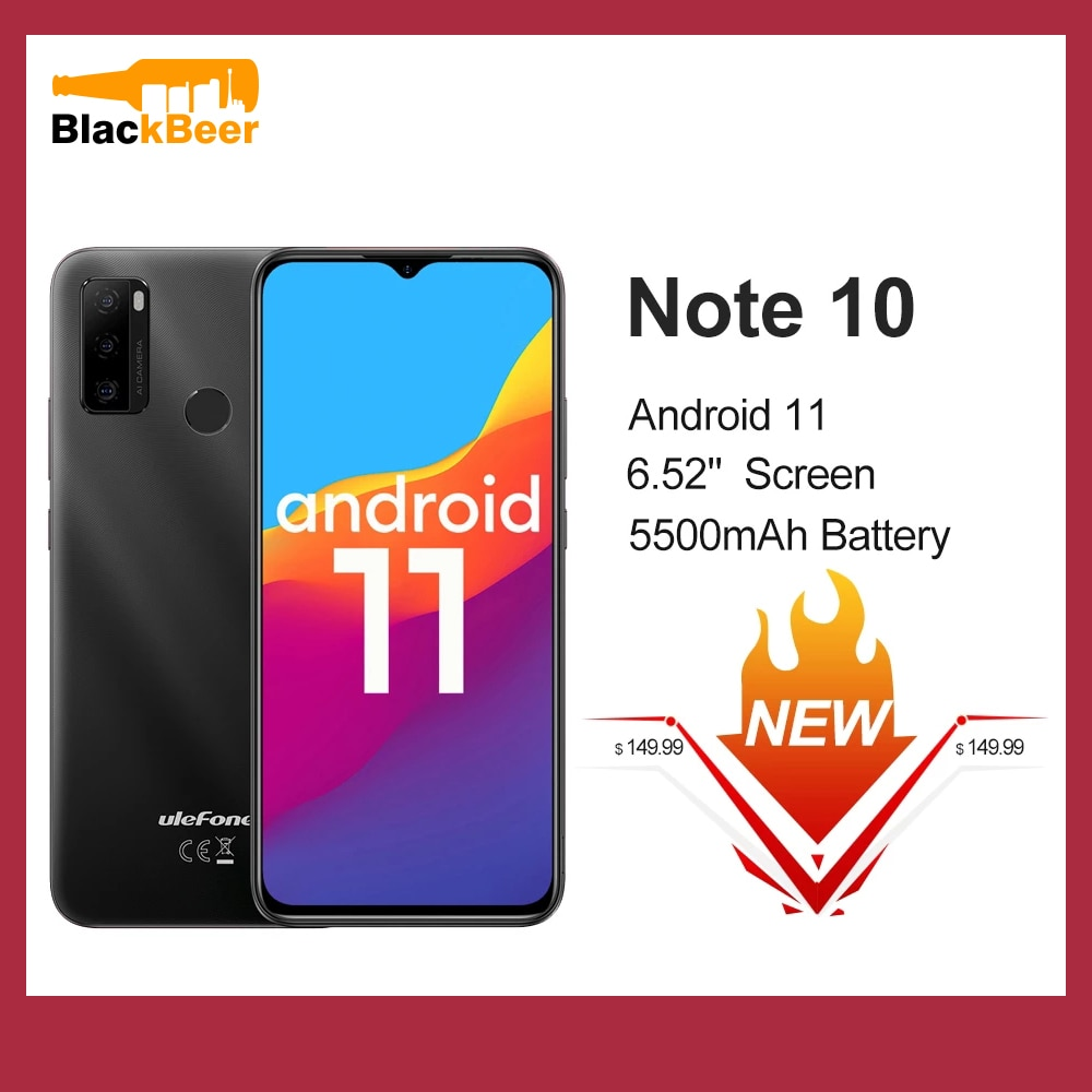 Ulefone Note 10 Android 11 Smartphone 6.52