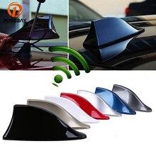 POSSBAY antenne de voiture universelle antennes daileron de requin antennes de Signal Radio automatique SUV amplificateur de toit adapté pour Peugeot Kia Ford Lada