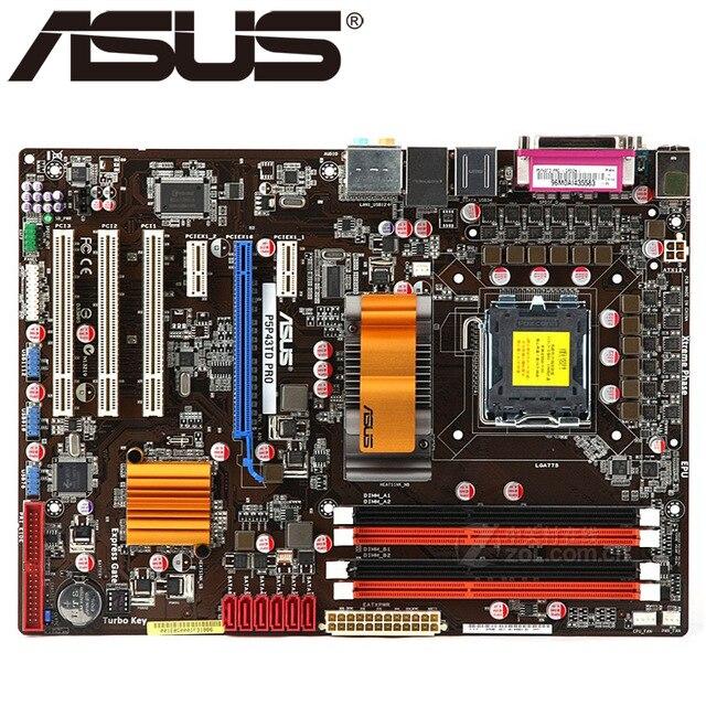 لوحة رئيسية لسطح المكتب لـ ASUS P5P43TD PRO DDR3 LGA 775 16GB USB2.0 P43 اللوحة الأم