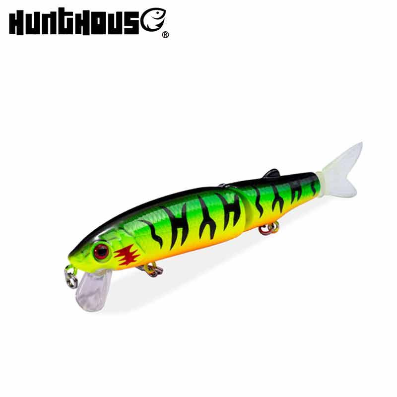 Hunthouse pike lure 11.3cm&9cm jointed bait soft tail minnow lure origin hook diving swimbaits slow sinking bait fishing leurre недорого