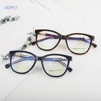 lionlk fashion boutique anti blu ray cat eye womens glasses computer round flat sunglasses tr90 pink frames