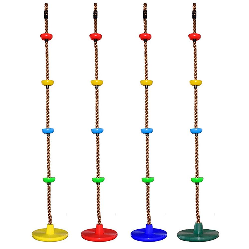 Columpio de cuerda de escalada para niños con Columpio de disco Conjunto de Cuerdas escalera árbol exterior patio trasero columpio