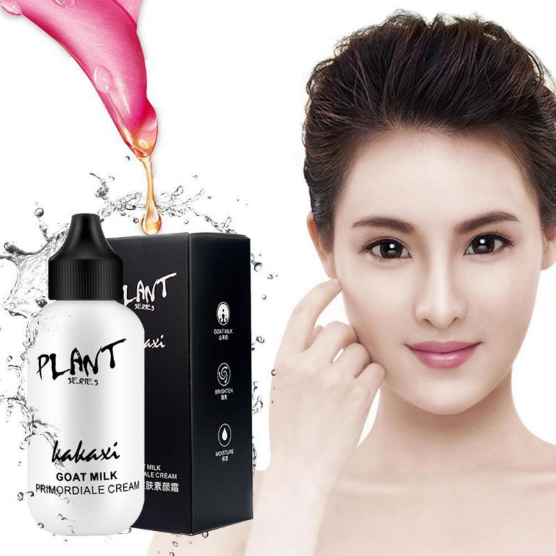 Imprimación de maquillaje crema de leche de cabra brillo hidratante impermeable ojos cuidado de la piel maquillaje base cosmética TSLM1