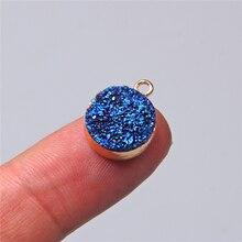2 pièces teinté cristal naturel cluster druzy pendule pendentif breloque pour la fabrication de bijoux collier boucle doreille bricolage accessoires trouver