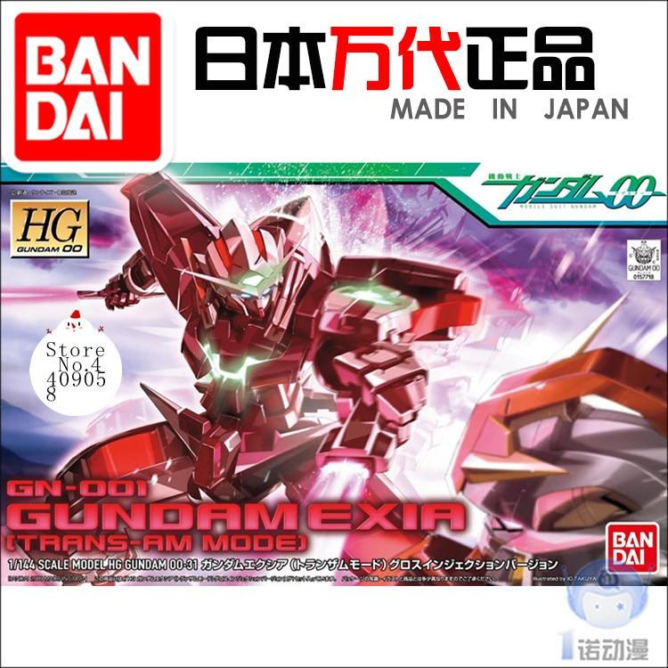 2019 nuevo original Bandai 57718 Hg 1/144 00 31 Gn-001 Exia Gundam Trans-am Kits de montaje de modo figura de acción modelo buliding