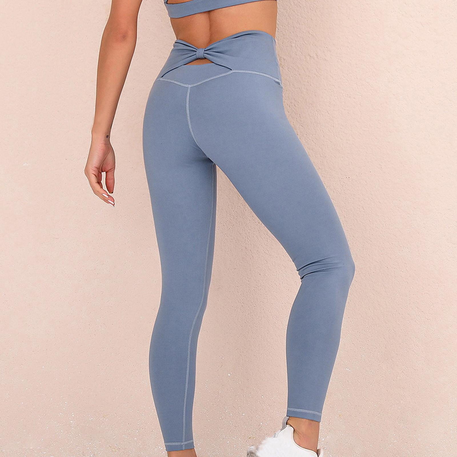Pantalones de yoga elásticos para correr, mallas con cintura alta, sin costuras,...
