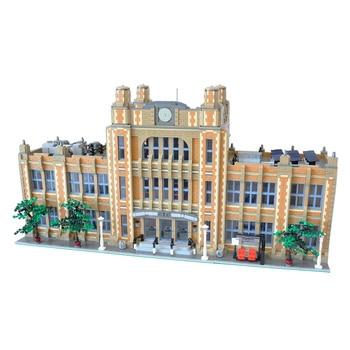 MOC Modular School Building Blocks Mini school model brick house model puzzle DIY Kid's Children's Toys Gifts 14412pcs