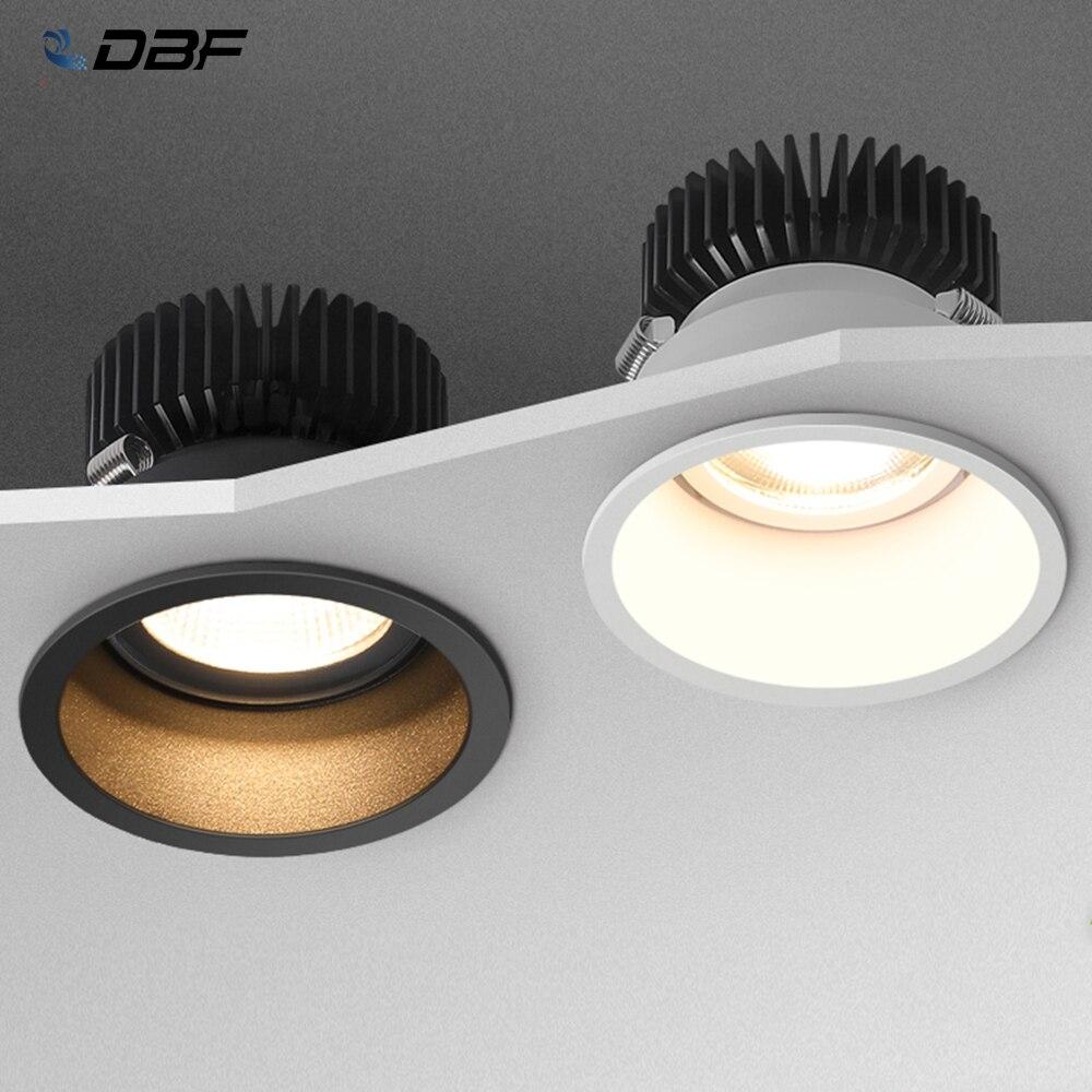 DBF-foco de luz LED empotrable regulable, foco de techo con ángulo ajustable,...