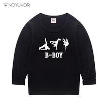 2021 Autumn Baby Boys T Shirt Cool B-Boy Letter Print Kids T-Shirts Funny Children Girls Tops Hip Ho
