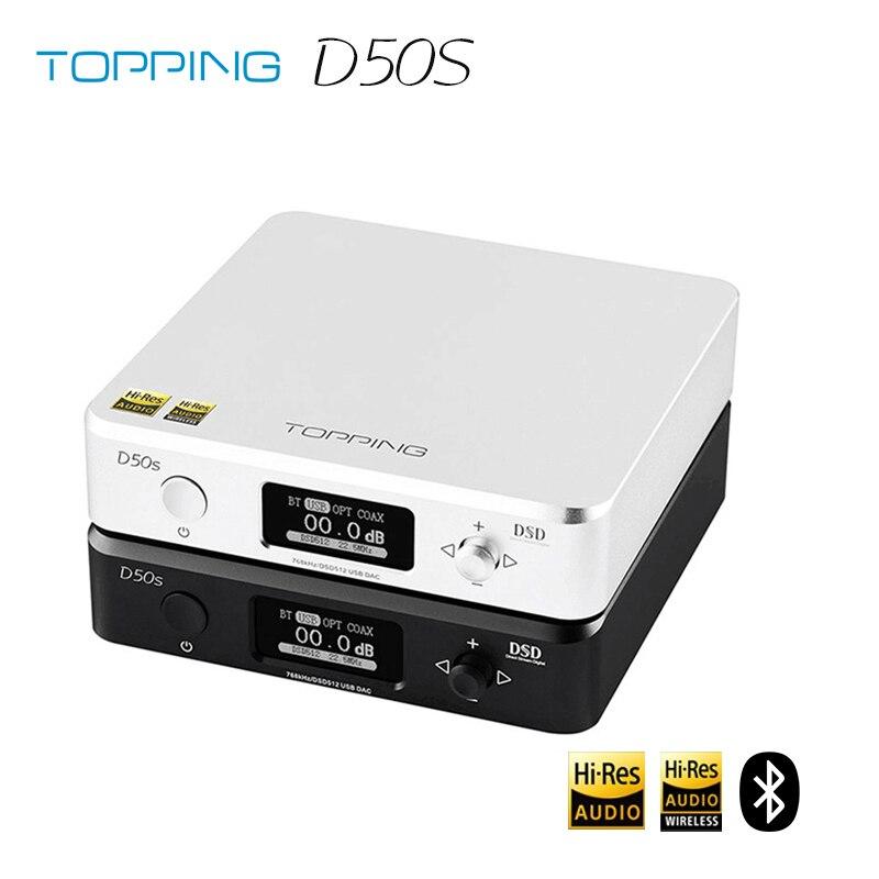 تتصدر D50s ES9038Q2M * 2 DAC بلوتوث 5.0 LDAC D50 DSD512 32Bit/768kHz مرحبا الدقة الصوت ايفي فك