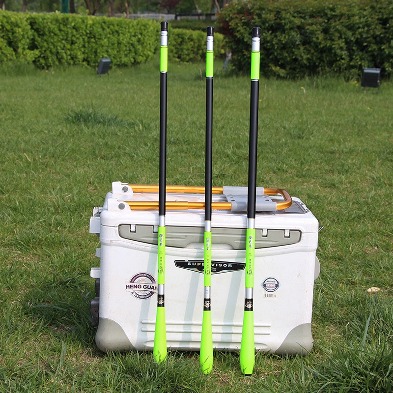 High-end córrego vara de pesca vara de peixe de carbono 3.6m-7.2m telescópica travel rod ultrashort equipamento alimentador para carpa
