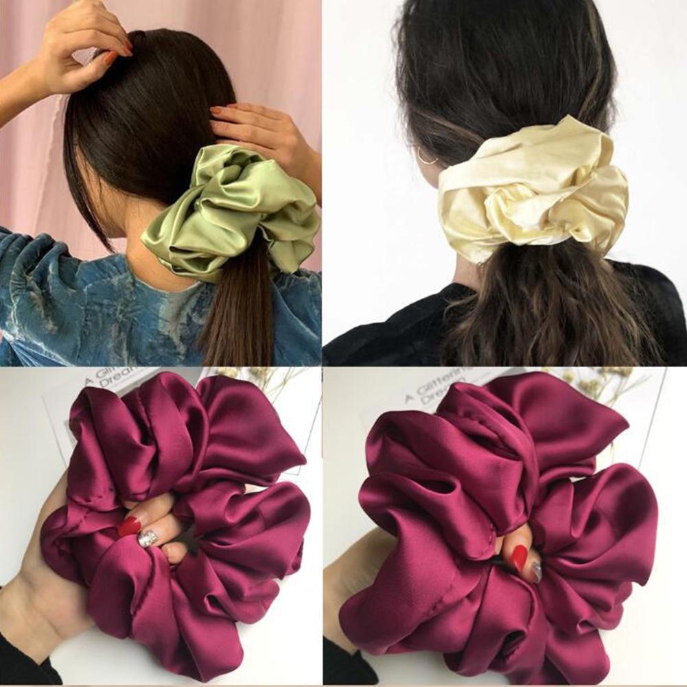 Oversize Scrunchie Women Girls Elastic Hair Rubber Bands Accessories Gum For Women Tie Hair Ring Rope Ponytail Holder Headdress