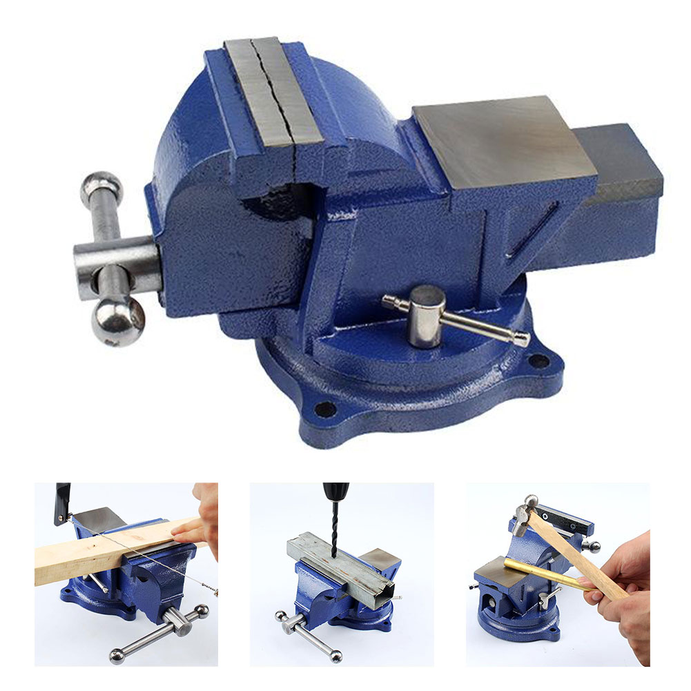 New Bench Vice Multifunction Heavy-Duty 3inch Flat Table Vice With 360 Degrees Swivel Base Metal Working Table High Quality