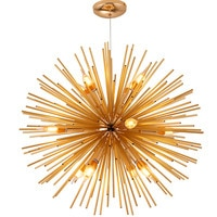 Radiation Sphere Gold LED Pendant Lamp Art Personality Design Living Room Bedroom Bar Restaurant Study