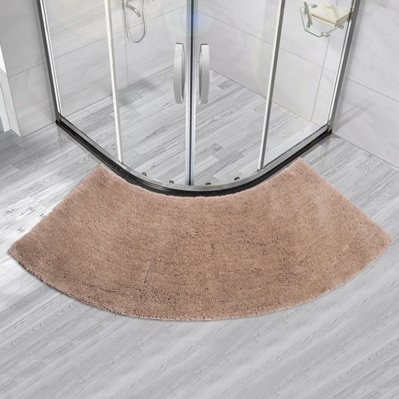 Sector Bathroom Non-slip Bottom Mat Soft Fluffy Shaggy Area Rug For Home Hotel Bath Room Shower Floor Mats Foot Pad enlarge