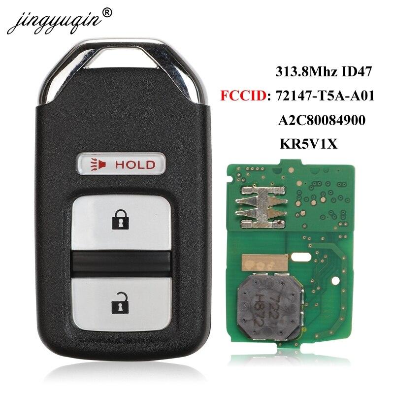 Jingyuqin 3 Taste Smart Remote-Auto Schlüssel 313,8 Mhz ID47 Für Honda Fit Jazz HR-V Cross 72147-T5A-A01 KR5V1X